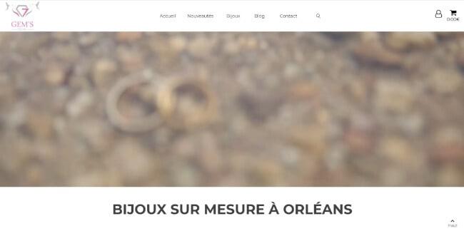 Site internet de démonstration, vente de bijoux sur mesure à Orléans (45000), Blois (41000), Beaugency (45190) et Lailly-en-Val (45740)